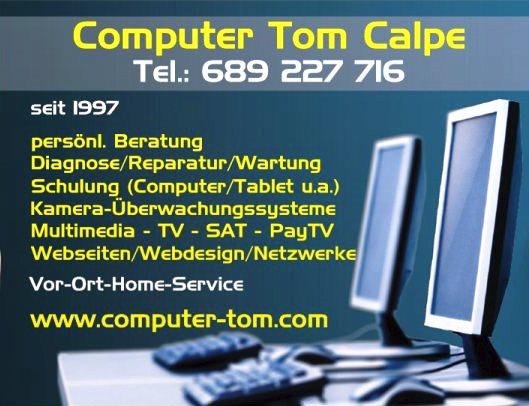 Computer Tom Calpe, Spanien, Costa Blanca