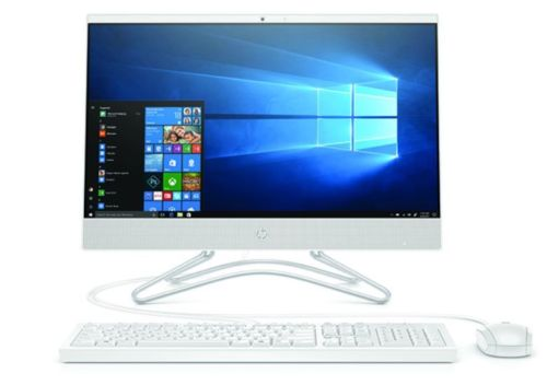 HP 24 Zoll Intel Quad Core All-in-One PC FullHD inkl. SSD Festplatte, Windows 10, Office 2019